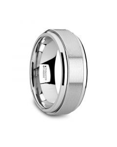 REVOLUTION Tungsten Carbide Spinner Ring Spinning Wedding Band - 8mm